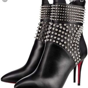 CHRISTIAN LOUBOUTIN Hongroise Calf Red Sole Bootie